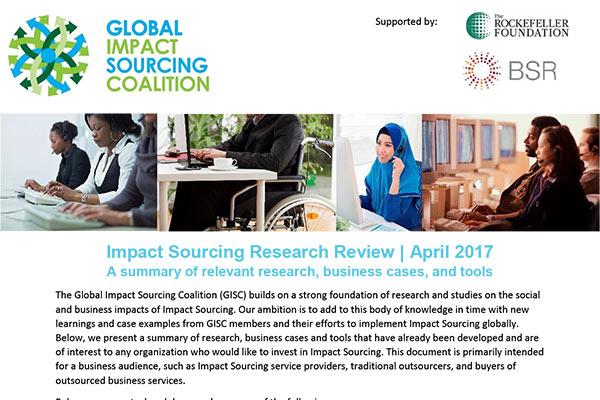 Impact Sourcing Research Review 2017