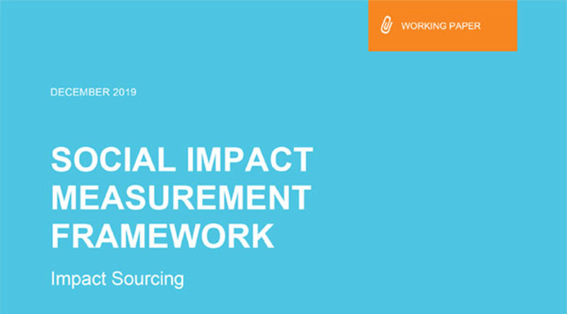 Impact Sourcing Social Impact Measurement Framework