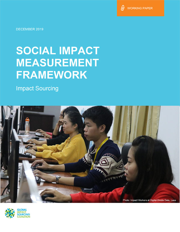 Working Paper—Impact Sourcing Social Impact Measurement Framework